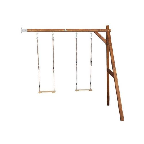 Suffolk Natural Wooden Kids Double Wall Mount Swing Set